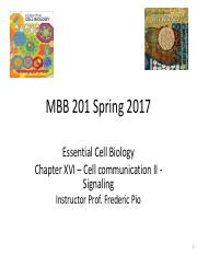Mar 29 - Lecture 27 - Cell communication II (1)