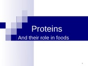 Food Chemistry Proteins