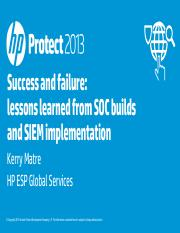 Success and failure - lessons learned from SOC builds and SIEM implementation.pdf