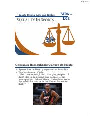 Sexuality in sports
