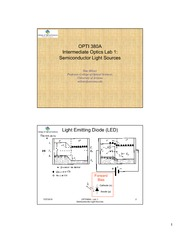 OPTI 380A Lab 1  - Semiconductor Light Sources - slides-2