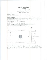 Homework E Solutions on Aerodynamics