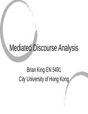Module 5 - Mediated Discourse Analysis