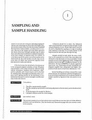 Lab 1 - Sampling and Sample Handling
