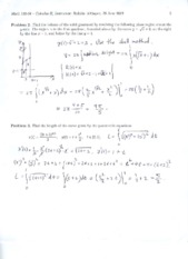 Exam 1 Solutions 2010 Part 2