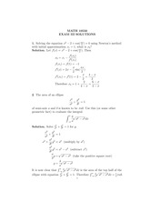 MATH 10550 Fall 2007 Exam 3 Solutions