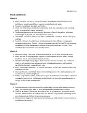 Chapters 1-12 (omit 8) Study Questions