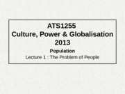 Culture Power and Globalization Population Problems.pptx