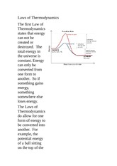 SPH 3U Class Notes Laws of Thermodynamics