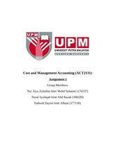 management accounting 2 group assignment Management accounting assignment help 1 management accounting – assignment helpproblem 1) job costingdescriptionin this part of the project, there are two independent problems that study job costing systemslearning objectives1) outline the seven step approach to job costing2) track the flow of costs in a job costing systemproblem one directionsjordan manufacturing company has the .