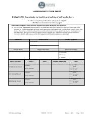 Download BSBWHS201 Assessment V2 0616