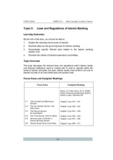 20140906034459_Topic 5 Laws and Regulations of Islamic Banking