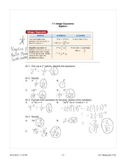 Integer Exponents Notes