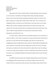 History of Rock opinion essay