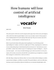 How humans will lose control of artificial intelligence.pdf