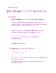 death:dying notes for exam 2.docx