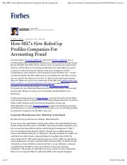 How SEC_s New RoboCop Profiles Companies For Accounting Fraud - Forbes.pdf