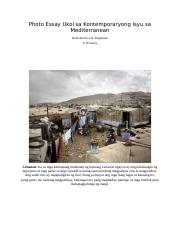 Photo Essay Ukol sa Kontemporaryong Isyu sa Mediterranean