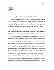 arts college essay importance in liberal