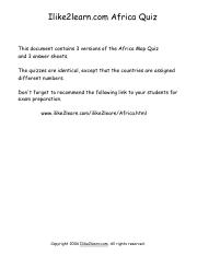 Ilike2learn Africa Map.Africa Map Exam Pdf Ilike2learn Com Africa Quiz This Document