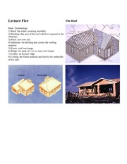 Lecture 5-The Roof & Windows