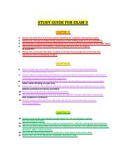 Adult Health Exam 3 Study Guide.docx