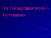 L20_Transportation problems - Formulations