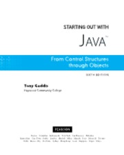 Starting Out With Java From Coh Objects, 5th edition. Gaddis 4