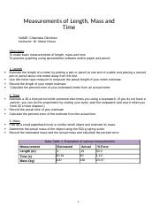 Measurements of Length, Mass and Time.docx