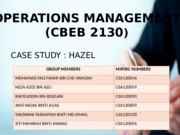 FINAL OPERATIONS MANAGEMENT G3