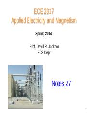 notes 27 2317 Magnetic Field and Ampere's Law
