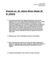 Koontz vs. St. Johns RWMD