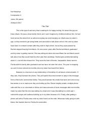 Narrative Imitation Story - Draft