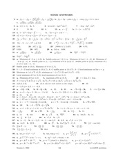 Problem Set 10 Answers