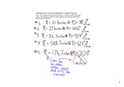 Answers to Vectors Worksheet