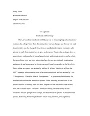 English 1030 essay draft