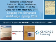 Cengage Web Assignment Lecture Slides