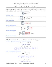 Solutions Practice Problems Exam 1