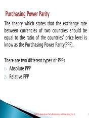 International Parity Relationships and Exchange Rate Forecasting-Part2.pdf