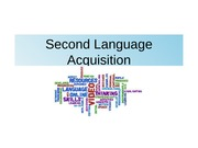 Second Language Acquisition April 1