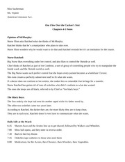 Chapters 4-5 Notes