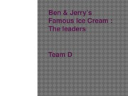 Ben and Jerry's powerpoint