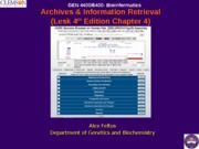 BCHM 4400- Archives Information Retrieval