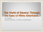 The World of Slavery Through The Eyes of White Americans
