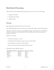distributed computer science lecture notes 11