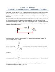 iLab Solving  RC, RLC and RL circuits  using Laplace Transform.docx