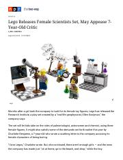 Lego Releases Female Scientists Set, May Appease 7-Year-Old Critic _ The Two-Way _ NPR(1)(1).pdf