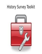 History_Survey_Toolkit__2011.ppt
