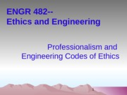 2013-09-18 Professionalism and Codes of Ethics