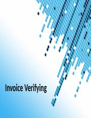 Invoice Verifying - Book Training.ppt